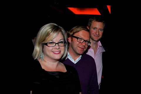 Screen's Wendy Mitchell, Marnix van Wijk of The Netherlands-based Eye Film Insitute, and Screen editor Mike Goodridge